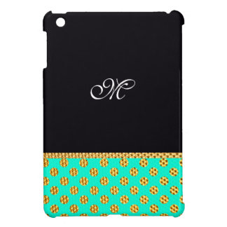 Monogram Pattern Cute Girly Mint Modern Initial iPad Mini Cover