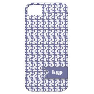 Monogram Pattern Five iPhone 5 Case in Purple