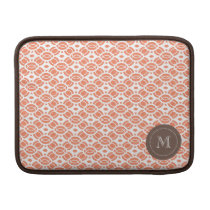 Monogram Pattern Mac Book Air Sleeve Orange
