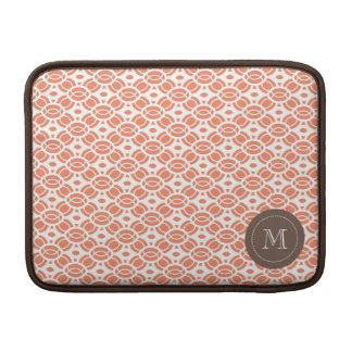 Monogram Pattern Mac Book Air Sleeve Orange Sleeve For MacBook Air