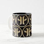 Monogram pattern Two-Tone coffee mug