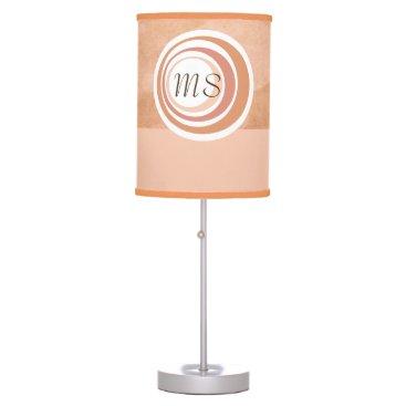 Professional Business Monogram Peach Circles Desk Lamp