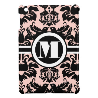 Monogram Peach Damask iPad Mini Case