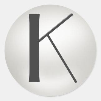 Monogram Pearl Stickers  = Monogram     K