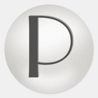 Monogram Pearl Stickers  = Monogram  P