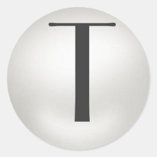 Monogram Pearl Stickers  = Monogram  T