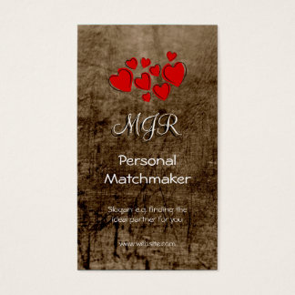 Monogram, Personal Matchmaker, leather-effect Business Card