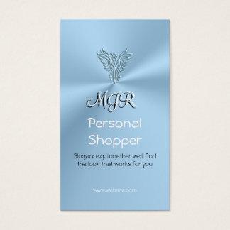 Monogram, Personal Shopper, Ice-blue Phoenix Business Card