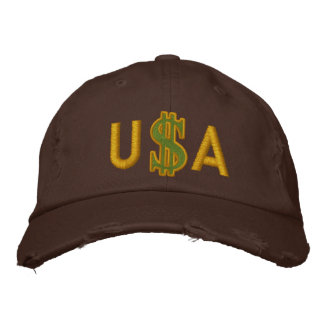 Monogram Personalized Dollar Sign Cash Embroidered Baseball Cap