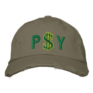 Monogram Personalized Dollar Sign Cash Embroidered Baseball Hat