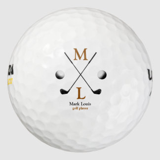 monogram . personalized logo golf balls