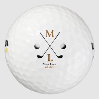 monogram . personalized logo golf balls