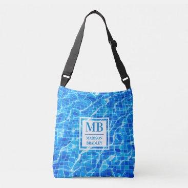 Monogram Personalized Name Swimming Pool Aquatic Crossbody Bag