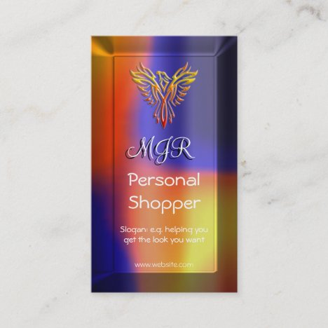 Monogram Phoenix, Personal Shopper, lens-effect Business Card