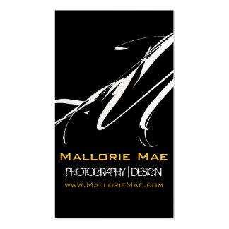 Monogram Photo Business Card Gold