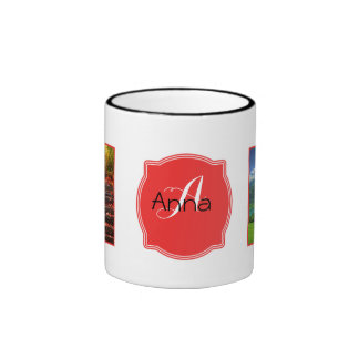 Monogram + Photos Ringer Mug