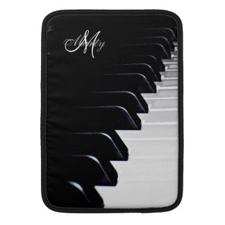 Monogram Piano Keyboard Music Macbook Sleeve