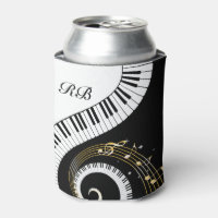 Monogram Piano Keys and Musical Notes Can Cooler