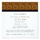 Monogram: Picture: Leopard Print Invitations