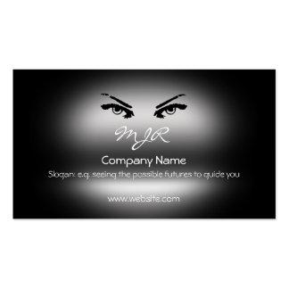 Monogram, Piercing Womans Eyes, metallic-effect Business Card