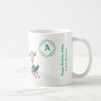 Monogram Piglet friendship mug, Wiggle and Oink Coffee Mug