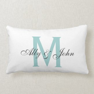 Monogram Pillow With Names