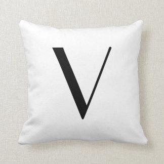 Monogram Pillows Letter V