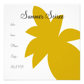 Monogram Pineapple Invitations