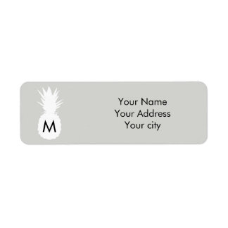 monogram pineapple on any color background label