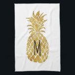 "monogram pineapple towel<br><div class=""desc"">monogram pineapple kitchen towel</div>"