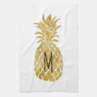 monogram pineapple towel