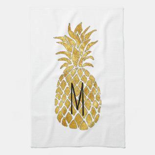 Monogram Pineapple Towel at Zazzle