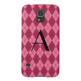 Monogram pink argyle galaxy s5 cases