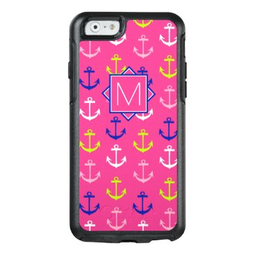Beach Themed Monogram | Pink & Blue Nautical OtterBox iPhone 6/6s Case