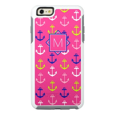 Beach Themed Monogram | Pink & Blue Nautical OtterBox iPhone 6/6s Plus Case