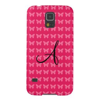 Monogram pink butterflies case for galaxy s5