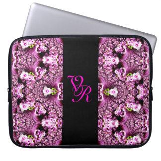 Monogram Pink Cherry Blossom Sakura Bride Design Computer Sleeve