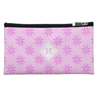 Monogram: Pink Daisy Bagettes Bag Cosmetic Bags
