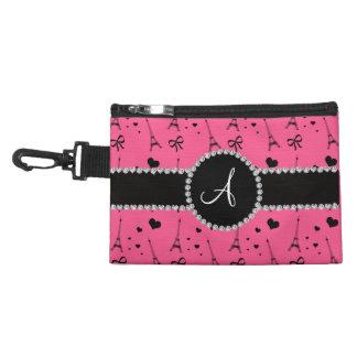 Monogram pink eiffel tower pattern accessories bags