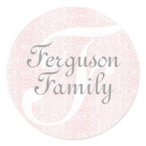 Monogram (Pink) Family Stickers