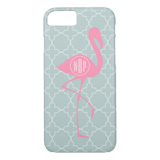 Monogram Pink Flamingo + Quatrefoil iPhone 8/7 Case