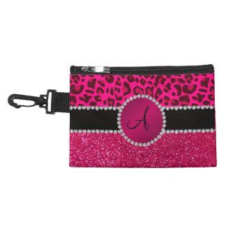 Monogram pink glitter neon hot pink leopard accessories bags