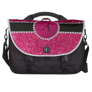 Monogram pink glitter neon hot pink leopard commuter bags