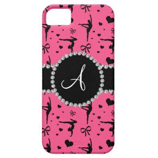 Monogram pink gymnastics hearts bows iPhone 5 case