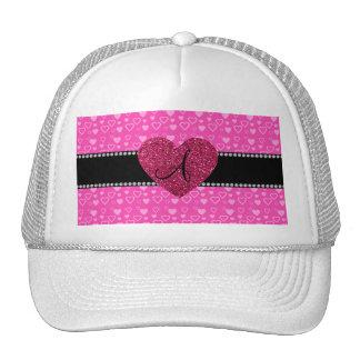 Monogram pink hearts trucker hats