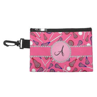 Monogram pink lacrosse pattern accessories bags