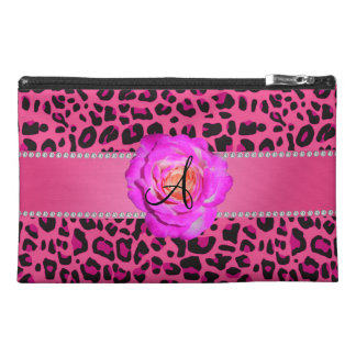 Monogram pink leopard hot pink rose travel accessory bags