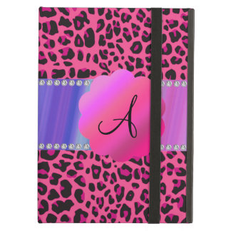 Monogram pink leopard iPad air covers