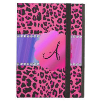 Monogram pink leopard iPad folio case