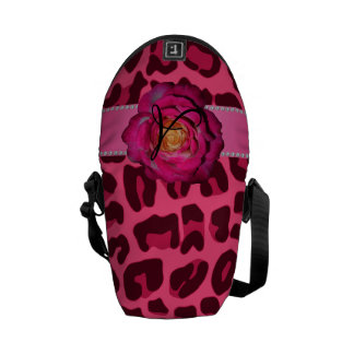 Monogram pink leopard pink rose courier bags